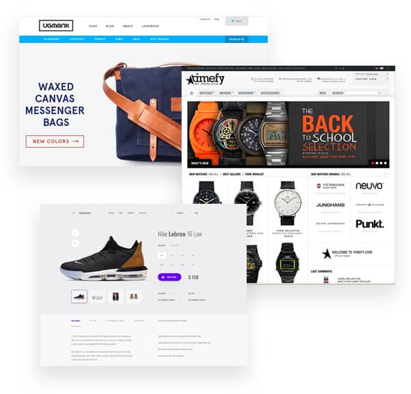 ecommerce design pages